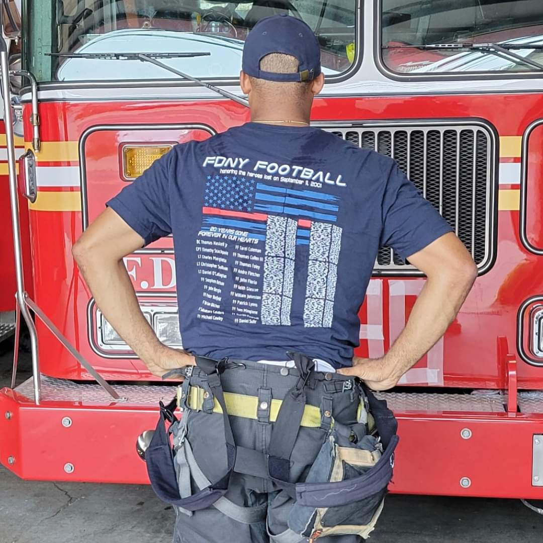 9/11 20th Year Commemorative Bravest Football T-Shirts