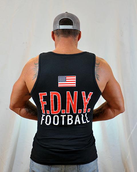 FDNY Bravest Football Tank Top - Navy Blue